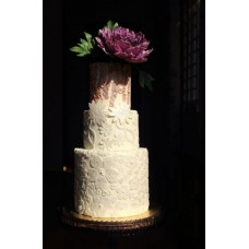 """Свадебный торт """"Цветочная апликация"""""""