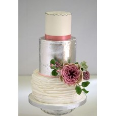 """Свадебный торт """"Цветок на серебре"""""""