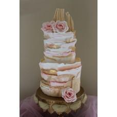 """Свадебный торт """"Башня с розами"""""""