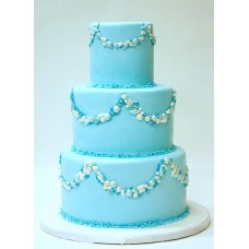 """Свадебный торт """"Камушки на голубом фоне"""""""