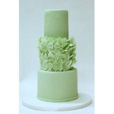 """Свадебный торт """"Зеленые листья"""""""