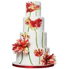 """Свадебный торт """"Красные тюльпаны"""""""