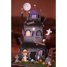 """Торт """"Страшный дом хэллоуина"""""""