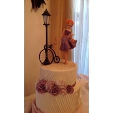 """Торт """"Дама с велосипедом"""""""