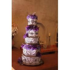 """Свадебный торт """"Лаванда и глоксиния"""""""