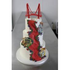 "Свадебный торт ""Мост Голден- Гейт"""