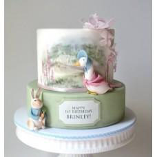 """Детский торт """"Гусыня с кроликом"""""""