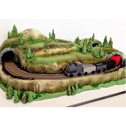 """Детский торт """"Товарный поезд"""""""
