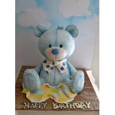 """Детский торт """"Голубой медвежонок"""""""