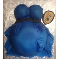 """Торт """"Беременная полицейский"""""""