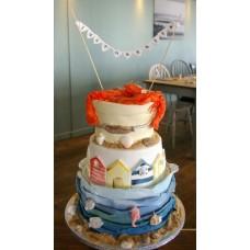 """Свадебный торт """"Влюбленные омары"""""""