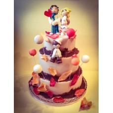 """Торт на день влюбленных """"Песня о любви"""""""