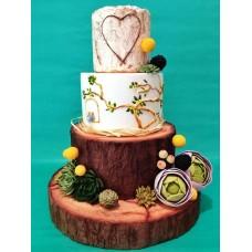 """Свадебный торт """"Сердечко на дереве"""""""