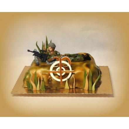 """Торт на 23 февраля """"Снайпер"""""""
