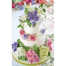"""Свадебный торт """"Разноцветная сирень"""""""