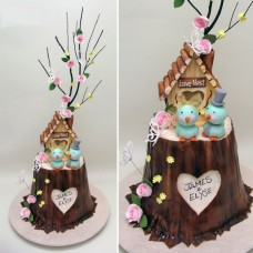 """Свадебный торт """"Семейное гнездышко"""""""