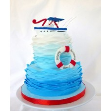 """Детский торт """"Корабль для Капитана"""""""