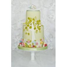 """Свадебный торт """"Влюбленные птички"""""""