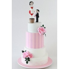 """Свадебный торт """"Жена- цветочек"""""""