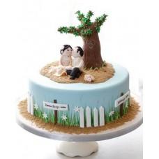 """Свадебный торт """"Влюбленные под деревом"""""""