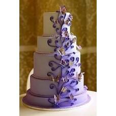 """Свадебный торт """"Квиллинг с бабочками"""""""