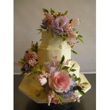 """Свадебный торт """"Три букета"""""""