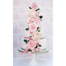 """Свадебный торт """"Розовый сад"""""""