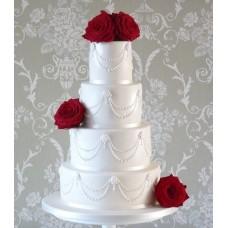 """Свадебный торт """"Бордовые розы"""""""
