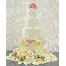 """Свадебный торт """"Цветочная красота"""""""