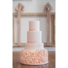 """Свадебный торт """"Пышные розовые лепестки"""""""