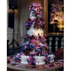 """Свадебный торт """"Фонтан цветов"""""""