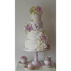 """Свадебный торт """"Гармония с розами"""""""
