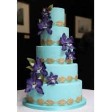 """Свадебный торт """"Ирис с золотом"""""""