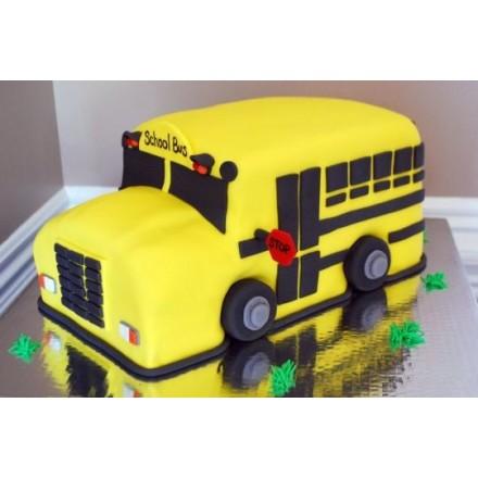 """Детский торт """"Школьный автобус"""""""