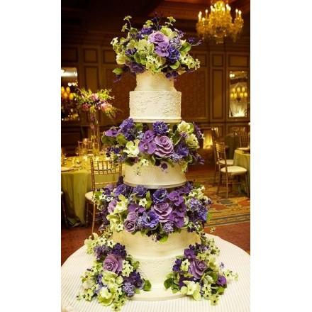 """Свадебный торт """"Счастливый фиолет"""""""