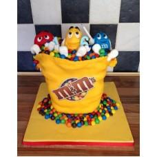 """Детский торт """"Большая пачка m&m"""""""