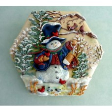 """Новогодний торт """"Снеговик в лесу"""""""