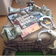 "Детский торт ""GTA доллары"""
