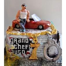 """Детский торт """"GTA герой"""""""