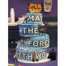 """Детский торт """"Звездные воины. Все герои"""""""