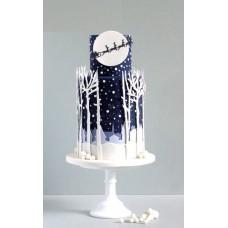 "Новогодний торт 2018 ""Снежный лес"""