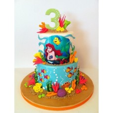 "Детский торт ""Ариель и флаундер"""