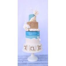 """Свадебный торт """"Морская любовь"""""""