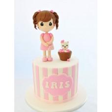 """Детский торт """"Девочка с песиком"""""""