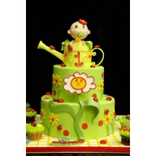 """Детский торт """"Девочка в лейке"""""""