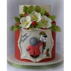 """Новогодний торт """"Дорогому Дедушке Морозу"""""""