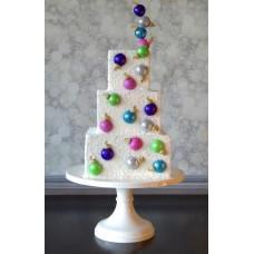 """Новогодний торт """"Елочные игрушки"""""""