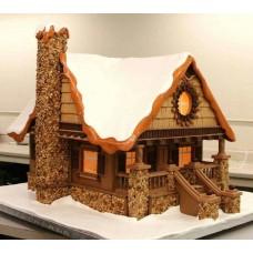 """Новогодний торт 2018 """"Уютный дом"""""""