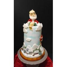 """Новогодний торт """"Дед Мороз читает письмо"""""""