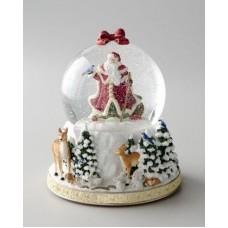 """Новогодний торт """"Новогодний шар с Дедом Морозом"""""""